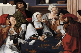 Painting called Card Players by Dutch painter, Lucas van Leyden
